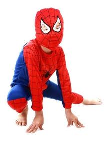 Disfraz Spiderman Hombre Araña Talla 3 A 8 Envío Gratis