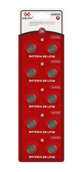 10 Baterias Pilha Cr1220 Bateria Relógio Original Mox