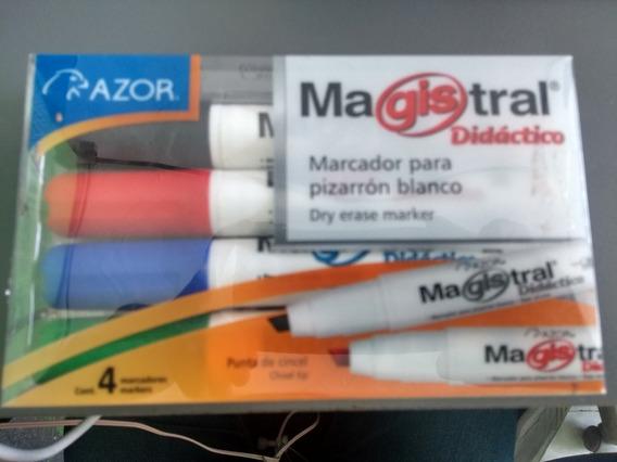 Plumones Para Pizarrón Paquete Con 4 Marca Magistral