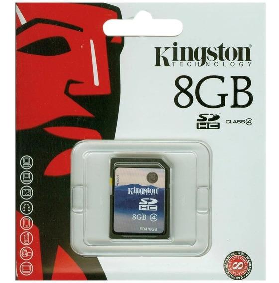 Cartão De Memoria Kingston Sd 8gb Sdhc Class4 Flash Card 8gb