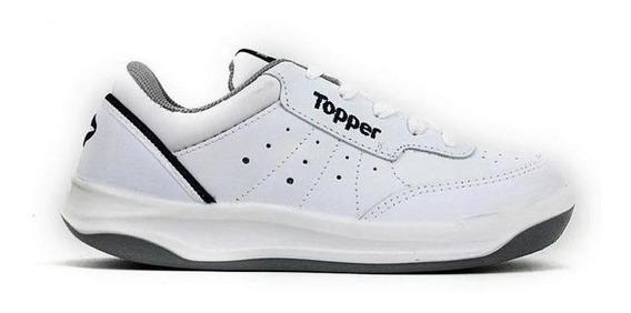 Zapatilla Topper X Forcer Tenis Cuero 21884