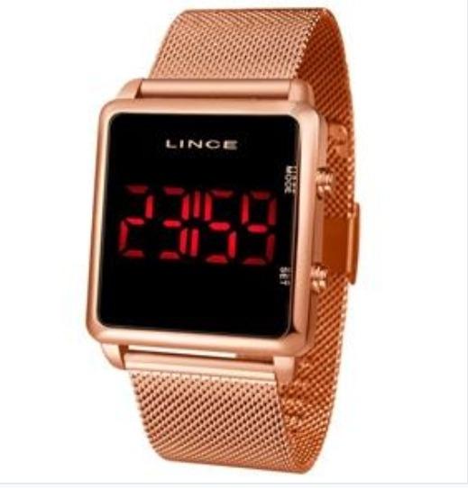 Relógio Lince Digital Feminino Led Vermelho