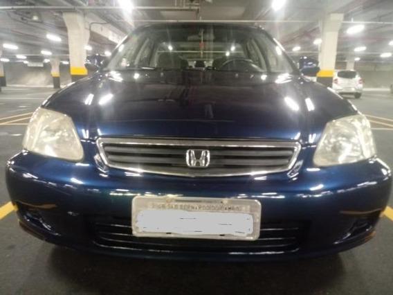 Honda Civic Ano 2000 143mil Km Rodado Revisado Troco