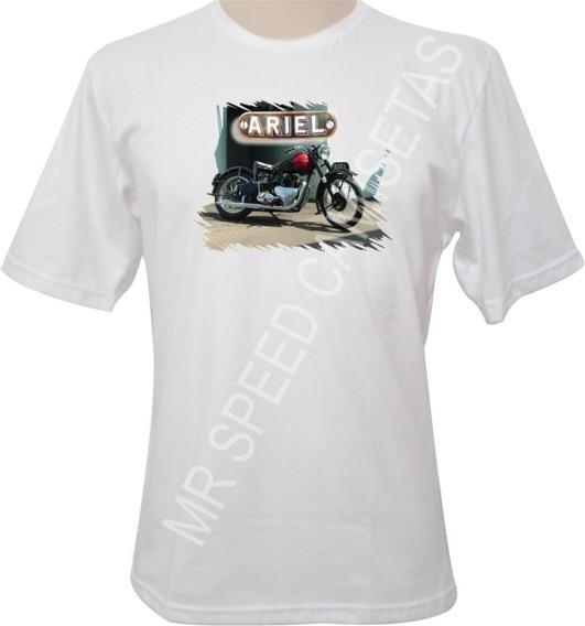 Camiseta Motocicleta Ariel 1951 Vermelha