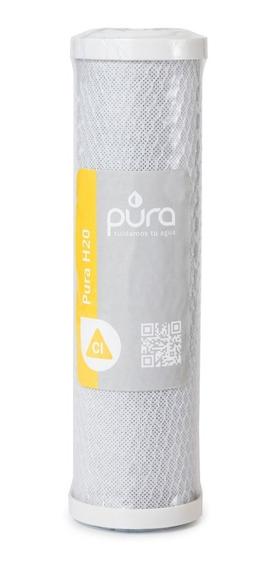 Filtro Núcleo Repuesto Pura H2o 40.000 Litros / 3 Años | Cartucho Carbón Activado Bloque 0.5 Micrones Cloro Sabor Olor