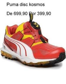 Tênis Puma Kosmos Disc - Vermelho E Amarelo Promoção Origina