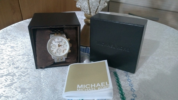 Relógio Michael Kors Mk 5057 Prata E Dourado Madrepérola