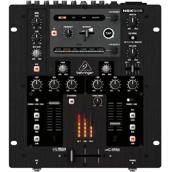 Mixer Dj 2 Canais Behringer Nox202 Novo Na Cxa Pr. Entrega!