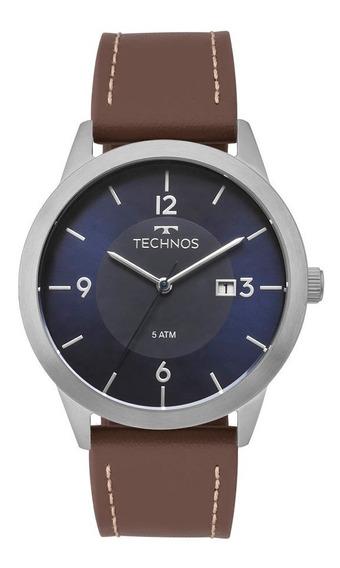 Relógio Technos Masculino Classic 2115mog/0a Fosco Couro