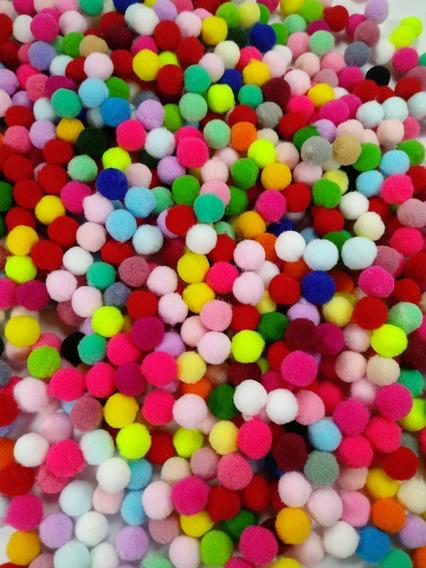 300 Mini Pompom Liso 1 Cm Para Artesanato Promoção