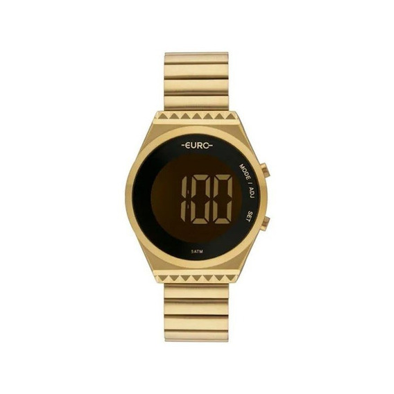 Relógio Euro Feminino Dourado Fashion Fit Eubjt016aa/4d