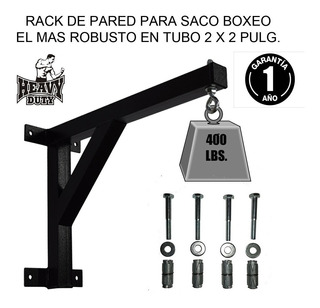 Rack Soporte Pared Saco Boxeo Mma Robusto En Tubo 2x2 Pulga