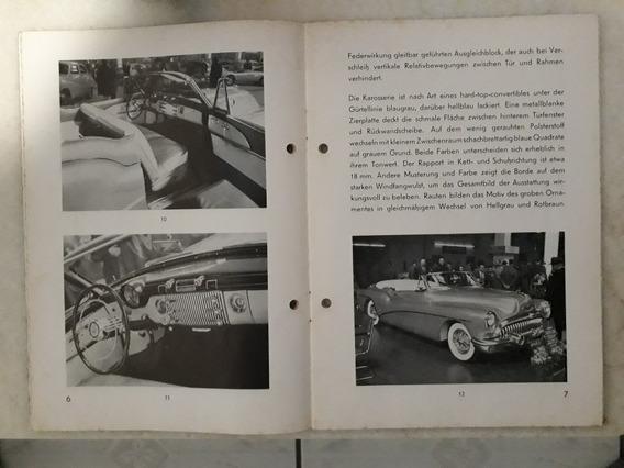 Livreto Salão Genebra 1953 Hudson Austin Buick Pontiac Cabri