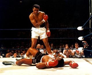 Cuadro Lienzo Muhammad Ali Vs Liston En Tela 100x80