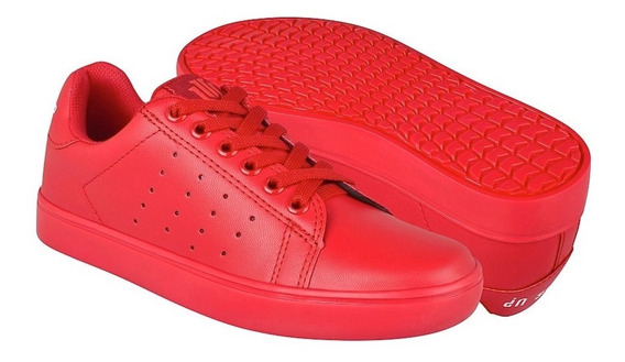 Tenis Para Dama What´s Up 174438 Simipiel Rojo 22-25