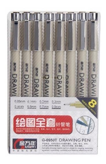 08 Canetas Nankin Drawing 0,05/0,1/0,2/0,3/0,4/0,5/0,7/0,8mm