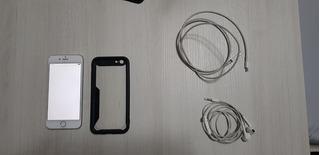iPhone 6 Prata 16gb + Cabo Original + Fone Original
