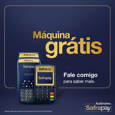 Máquina De Cartão Grátis Safrapay