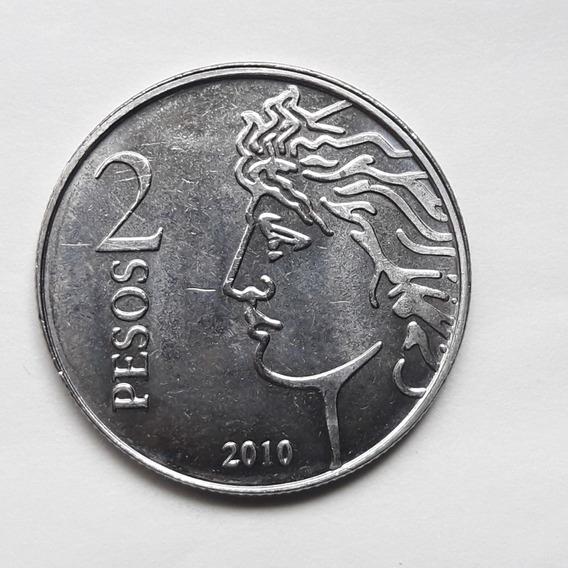 * Moneda De 2 Pesos 2010. 75° Aniv. Bcra. Sin Circular