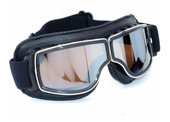 Óculos Google Estilo Aviador Old School Espelhado - Harley
