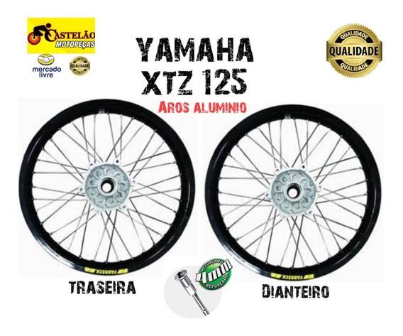 Roda Montada Xtz 125 Aro Aluminio Traseira E Dianteira