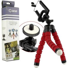 Mini Tripé Flexível Para Celular E Câmera Digital