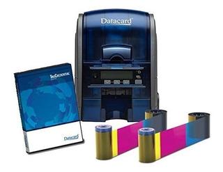 Combo Impresora De Credenciales + Ribbon + Tarjetas + Soft