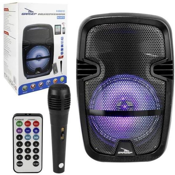 Caixa De Som 30w Portátil Bluetooth Amplificada C Microfone