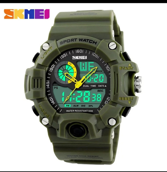 Relógio Masculino Original Skmei Verde