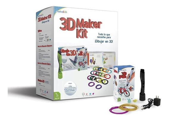 Creativakids - 3d Maker Kit Negro - Kit De Dibujo