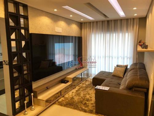 Imagem 1 de 28 de Apartamento Com 2 Dormitórios À Venda, 88 M² Por R$ 450.000,00 - Vila Caiçara - Praia Grande/sp - Ap2024