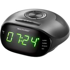 Rádio Relógio Digital Despertador Multilaser Bivolt - Sp202