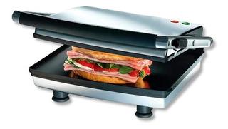Sandwichera Plancha Grill Superficie Plana Cromada Oster
