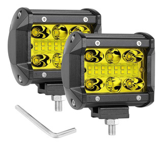 X2 Exploradoras Led Flood+spot 120w Rompe Niebla Lluvia