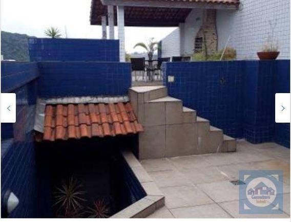 Cobertura Com 3 Dormitórios À Venda, 270 M² Por R$ 700.000 - Marapé - Santos/sp - Co0101