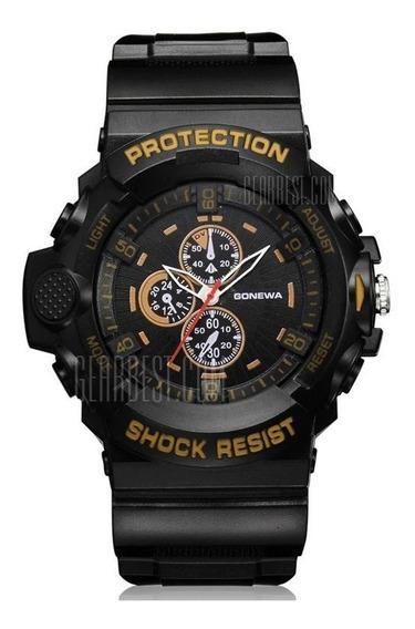 Relógio Shock-resist Analógico Pulseira Silicone