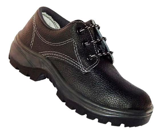Sapato De Couro Em Vaqueta Amarril E Bico De Aco