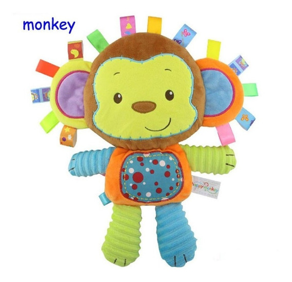 Naninha Bebê Ursinho Brinquedo Menino Chocalho Grande Macaco