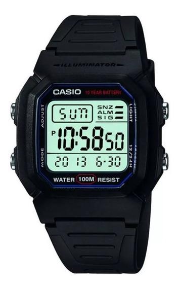 Relógio Casio W 800h-1a Serie Prata Prova D`água 100m + Nota Fiscal + 12 X Sem Juros