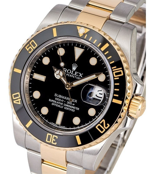 Reloj Rolex Submariner Date Silvergold (esfera Negra)
