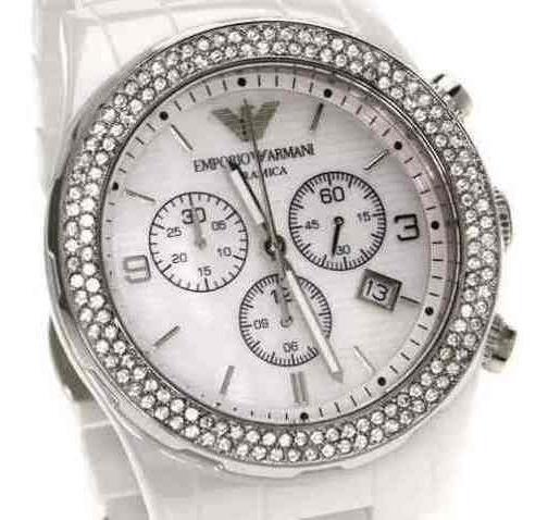 Relógio Empório Armani Ar1456 Cerâmica Branca Feminino