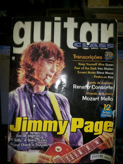 Revista Guitar Class Jimmy Page 12 Liçoes Mortais Rara