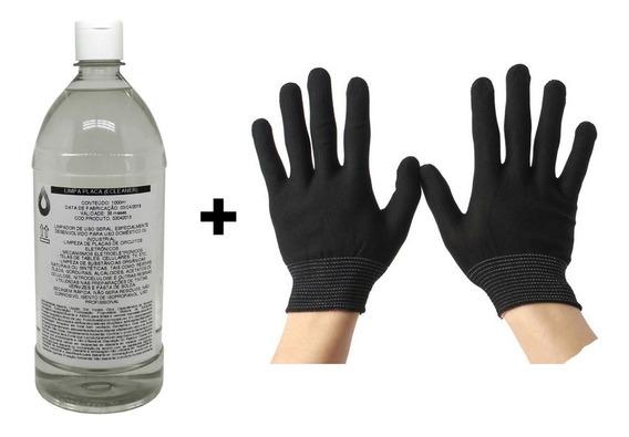 Ecleaner Limpa Placa 1litro 99,8% + Luva Anti Estatica Esd