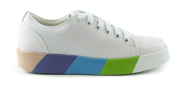 Tenis Con Plataforma Multicolor