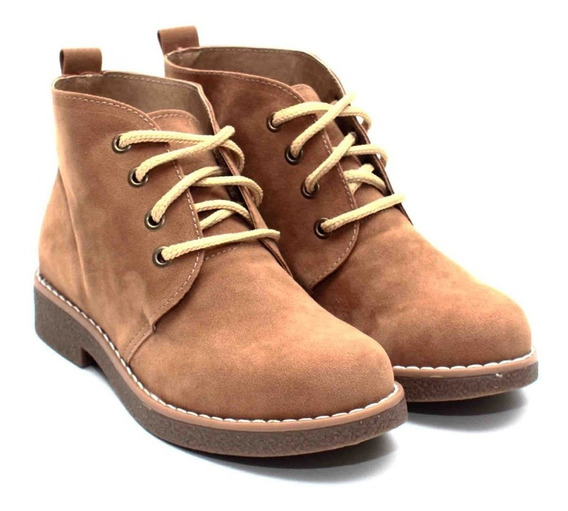 Botas Botitas Zapatos Gamuza Mujer Botinetas Zapatillas