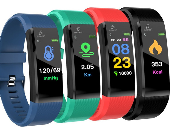 Smart Band Id115 Plus Reloj Pulsera Inteligente Sensor De Ritmo Cardíaco Mayoreo Ele-gate