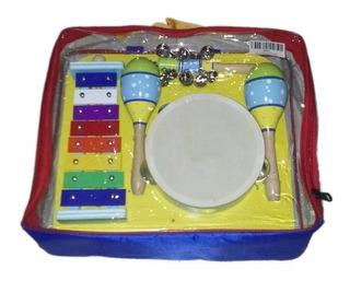 Set De Percusion Para Niños Jb565 - 4 Instrumentos