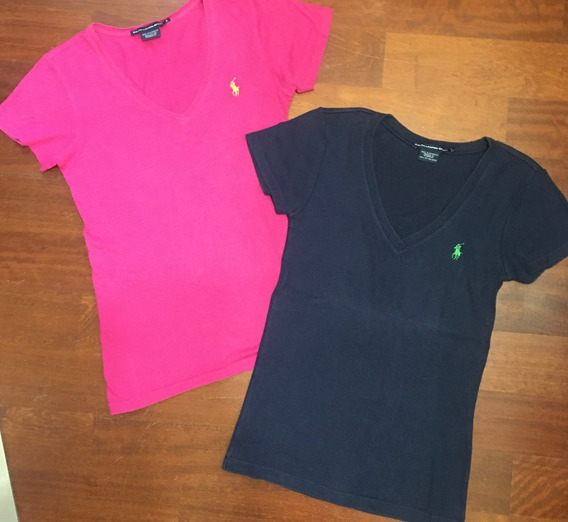 Combo X2 Remeras Polo Ralph Lauren Mujer Talle S Tipo Tommy