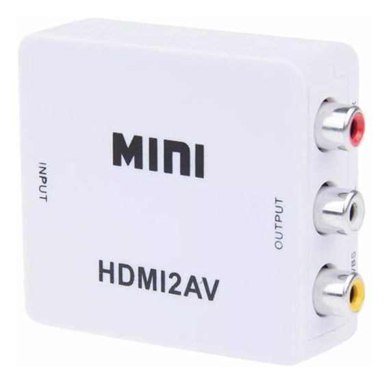 Mini Adaptador Conversor De Hdmi Para Video Composto Av3rca