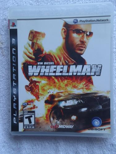 Vin Diesel Wheelman Ps3 ** Leia